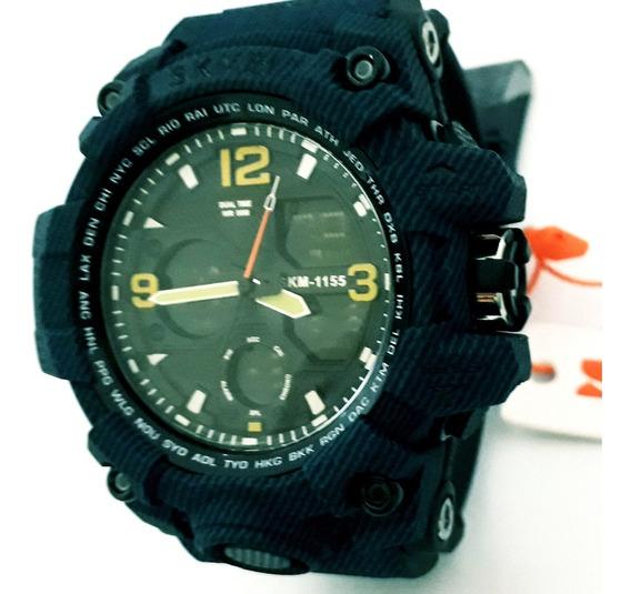 Relógio Masculino Skmei 1155 Digital Analógico Azul Top