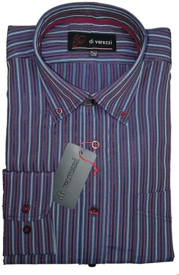 Camisa M Larga Rayada Fina Confección Con Tablón En Espalda