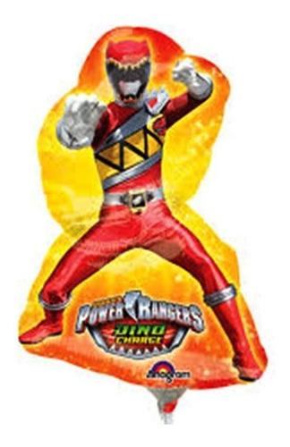 4 Globos Power Rangers Dino Charge Centro Mesa 14in Fiesta