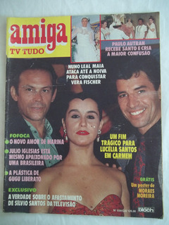 Revista Amiga Tv 930 Silvio Santos Suplemento 1988 Bloch