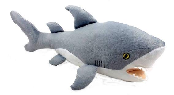 Tubarão De Pelucia 50 Cm Animais Marinhos Bicho
