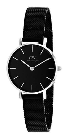 Reloj Daniel Wellington Petite Ashfield Plateado Negro 32mm