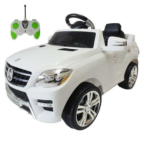 Carro A Batería Mercedes Benz Blanco