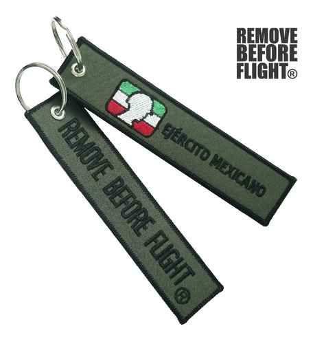 Llavero Ejército Mexicano Remove Before Flight
