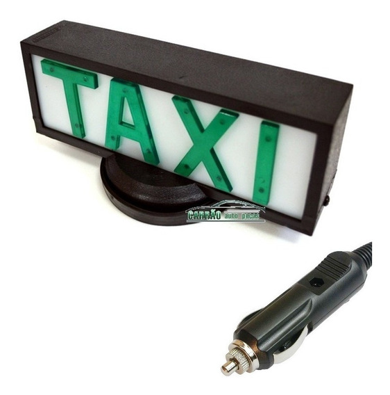 Luminoso Teto Taxi Retangular Com Base De Íman Plug Acended