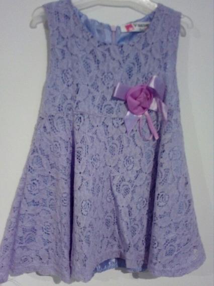 Vestido Lila Pastel Talle Para 12 Meses Nuevo Unico Sin Uso