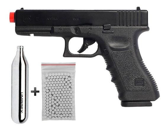 Pistola De Airsoft Co2 Glock G17 Oficial Licenciada Blowback