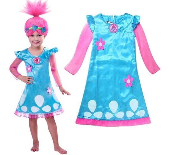 Disfraz De Trolls Poppy Vestido