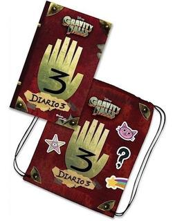 Gravity Falls 3 Diarios + Bolso De Regalo - (papel)