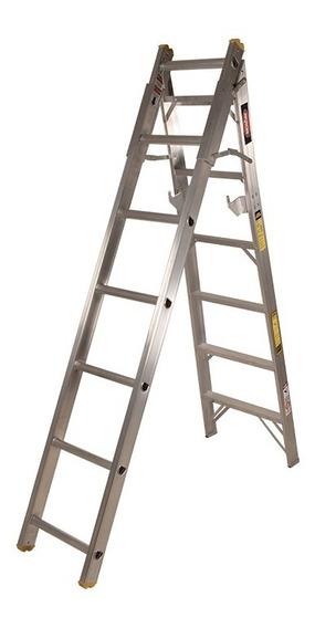 Escalera De Tijera Aluminio Convertible Akron 13 Esc 77-19