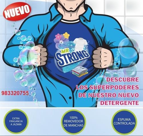Imagen 1 de 5 de Detergente En Polvo Mr Strong