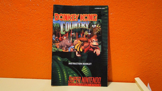 Manual Original Donkey Kong Country - Snes Usa