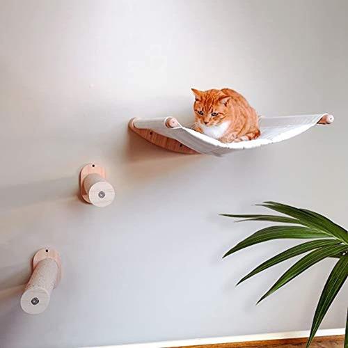 Hamaca Para Gatos Montada En La Pared Con Dos Escalones - Ca