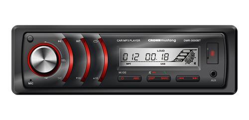 Estéreo para auto Crown Mustang DMR-3000BT con USB, bluetooth y lector de tarjeta SD