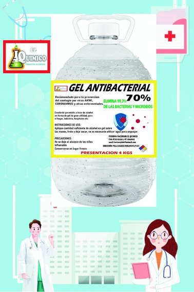 Gel Antibacterial Alcohol 70% Oferta!!!! 4 Kgs