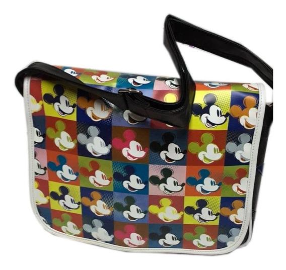 Morral Escolar Carpetas, Cuadernos Con Tapa Mickey Original!