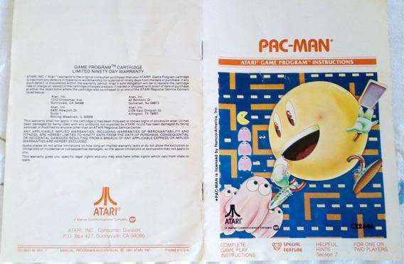 Manual Original Americano Pac Man - Pacman - Come Come Atari