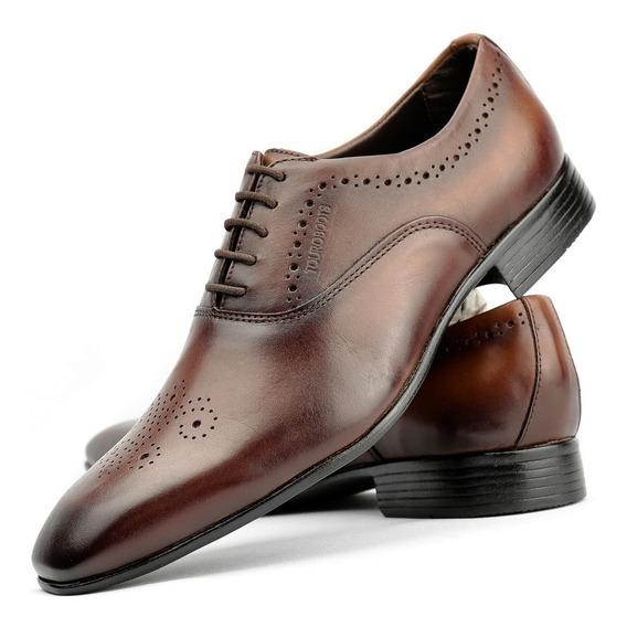 Sapato Social Masculino Verniz 100% Couro - Em Oferta