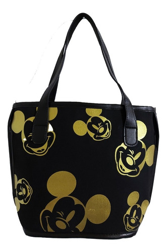 Imagen 1 de 7 de Bolsa Pequeña De Dama De Disney De Mickey Mouse Negro/dorado