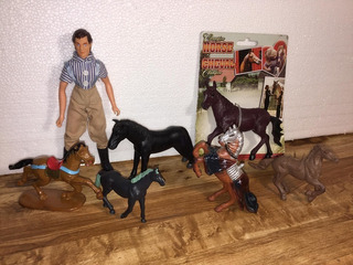 Caballos Terra By Battat.breyer.greenbier. Jinete.coleccion,
