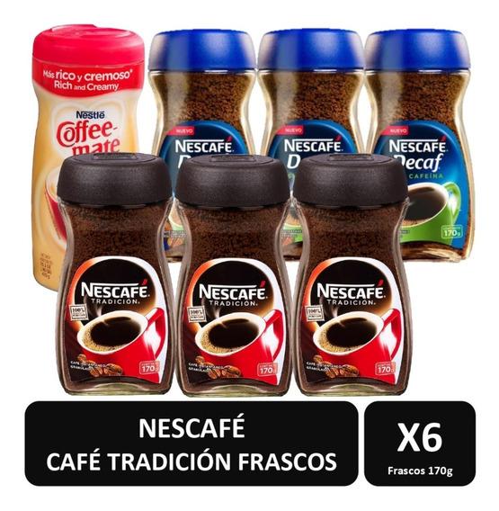 Cafe Nescafe Gran Tradición Y Tradición Decaf + Coffee Mate