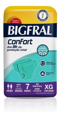 Fralda Bigfral Confort Xg 7 Unidades