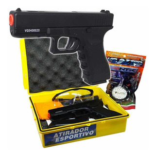 Airsoft Pistola Wingun Metal Gk-v20 6mm C/ Estojo + Bbs