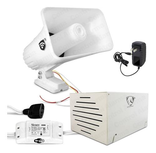 Imagen 1 de 10 de Alarma Vecinal Wifi Inalambrico Caja Proteccion Casa Sensores Sirena Tipo Banco Alerta Control Via App Celular Negocio