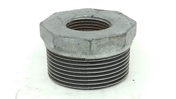 Conexão Ferro Galvanizado Bucha Redução 1.1/2 X 3/4 Pol Npt