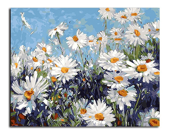 Pintura Decorativa Flores Emoldurada Óleo Gx4227 40x50cm