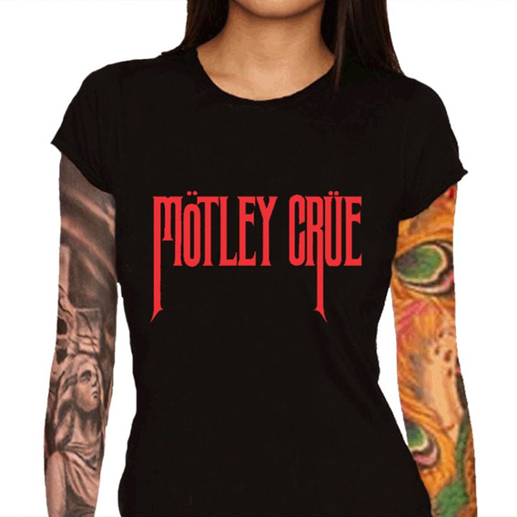 Camiseta Feminina Mötley Crüe - 100% Algodão