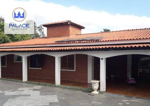 Imagem 1 de 22 de Chácara Com 6 Dormitórios À Venda, 2500 M² Por R$ 1.400.000 - Campestre - Piracicaba/sp - Ch0077