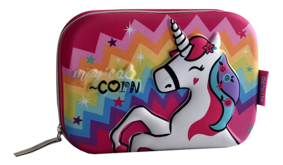 Cartuchera 1 Piso 3d Con Compartimientos Unicornio Manias