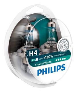 Bombillo Luces Carro H4 Philips Xtreme Vision 130% Mas Luz
