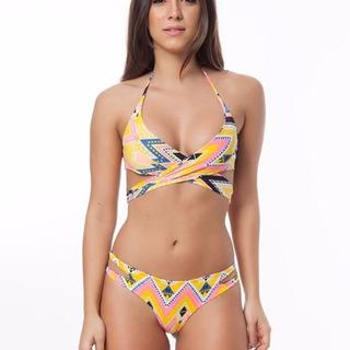 Bikini Brasileño Tribal Cruzado Lycra® Santiago