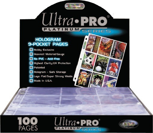 25 Folios De Carpeta Ultra Pro Platinum 9 Bolsillos