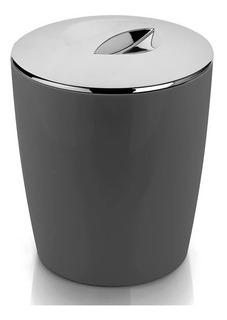 Lixeira 5 Litros Cromo Vitra Tampa Lixo Cozinha Banheiro Ou