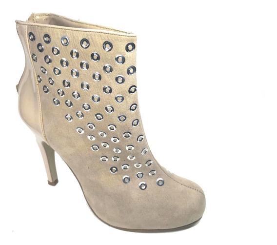 Botines Negro Para Mujer Tacon Aguja Bagas Shoes