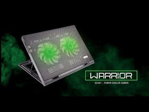 Cooler Warrior Power Gamer Led Ac267 Nota Fiscal Garantia