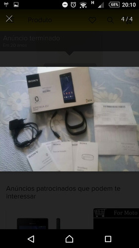Imagem 1 de 4 de Sony Xperia Z2 - Usado / Conservado