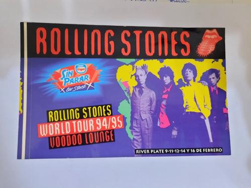 Imagen 1 de 2 de Stickers Rolling Stones Argentina Voodoo Lounge Tour 94-95