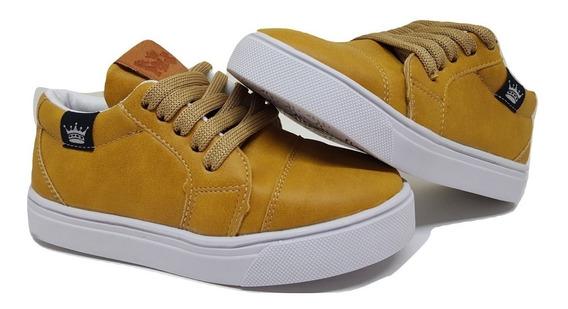 Zapatillas De Nene/niño Color Mostaza Talles Del 19 Al 34