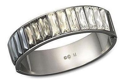Bracelete Platinium M Cristal Swarovski Original 1098485 #