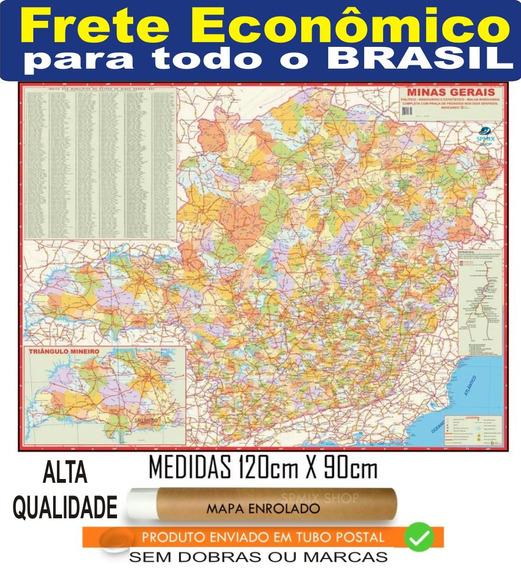 Mapa Estado De Minas Gerais 120 Cm Enrolado Frete R$ 20
