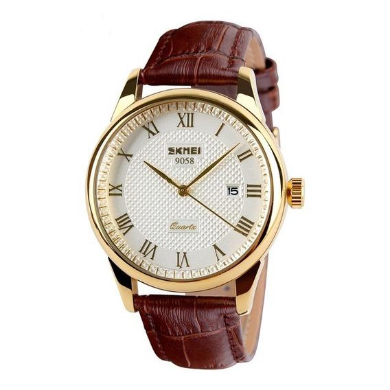 Relógio Masculino Couro Classico Original Luxo