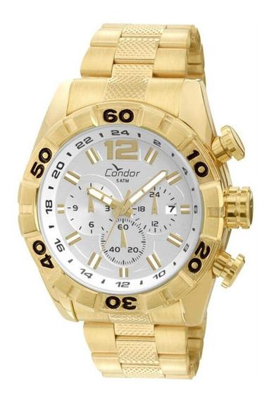 Relógio Condor Masculino Ouro 18k Dourado Original Grande