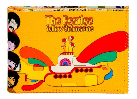 Billetera Yellow Submarine Beatles Con Tarjetero