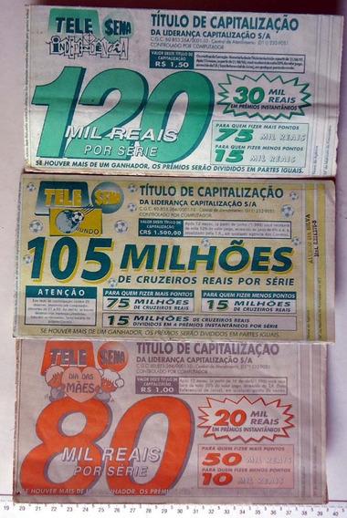 3 Telesenas Antigas - 1 De 1994 - 2 De 1995 Para Coleção Lt4