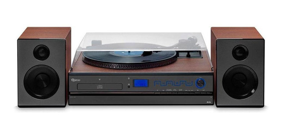 Vitrola Raveo Aria Toca-discos Bluetooth Cd Fm Usb Sd Nfc