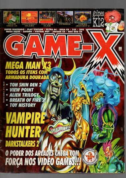 Revista Game-x Vampire Hunter Mega Man X3 Nº 03
